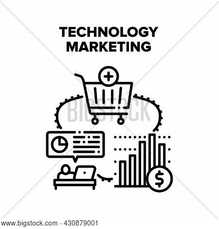 Technology Marketing Vector Icon Concept. Technology Marketing For Advertising Purchase Goods In Int