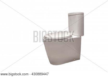 Isolate Of Modern Clean White Flush Toilet