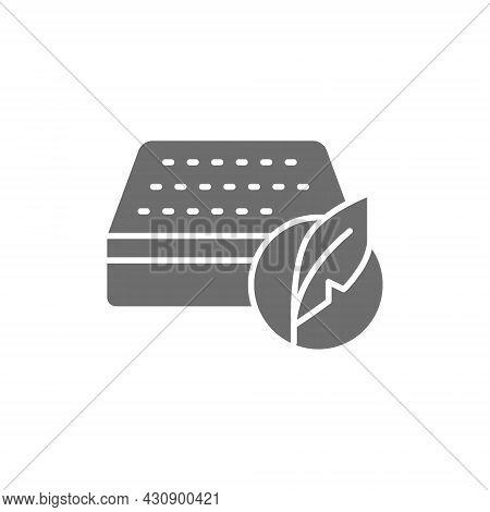 Soft Orthopedic Mattress Grey Icon. Isolated On White Background