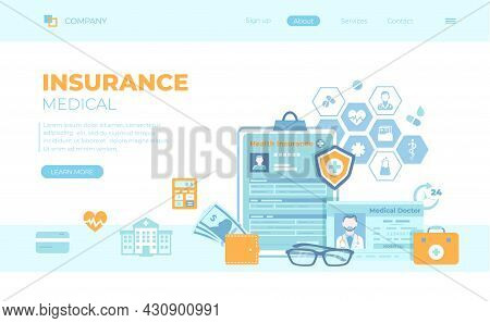 Medical Insurance, Healthcare, Support. Health Claim Insurance Form, Medical Card, Doctor's License,