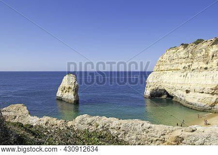 Carvalho Beach In Carvoeiro, Lagoa, Algarve, Portugal