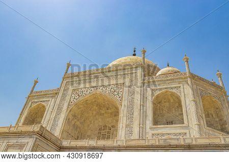 Taj Mahal Agra India Mogul Marble Mausoleum Amazing Detailed Architecture.