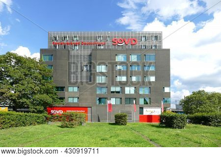 Berlin, Germany, August 11, 2021, Building With The Headquarters Of Sozialverband Deutschland E.v.