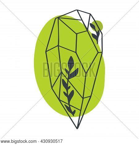 The Green Vector Gem Is An Emerald.