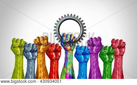 Workers Day And Labour Celebration For Employees And A Group Of Diverse Labourers Or Union Rights Fo