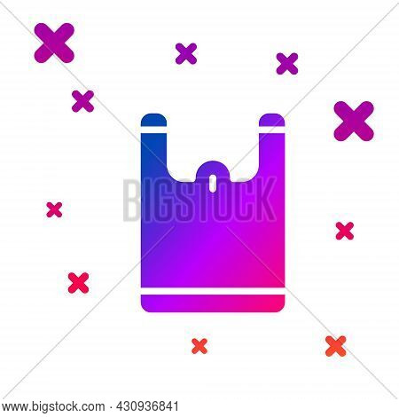 Color Plastic Bag Icon Isolated On White Background. Disposable Cellophane And Polythene Package Pro