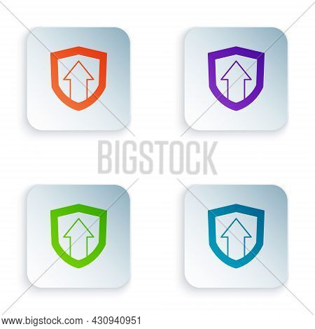 Color Financial Growth Increase Icon Isolated On White Background. Increasing Revenue. Set Colorful