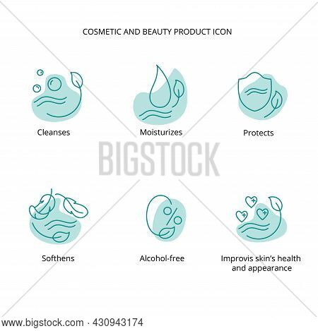 Beauty Product, Cream, Face Cleansing, Makeup Removing Lotion, Mask Cosmetic And Beauty Tretment Ico