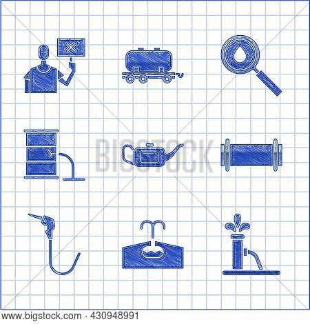 Set Canister For Motor Oil, Oilfield, Pump Pump Jack, Industry Pipe, Gasoline Nozzle, Barrel Leak, D
