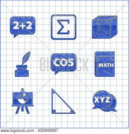 Set Mathematics Function Cosine, Triangle Math, Xyz Coordinate System, Book With Word Mathematics, C