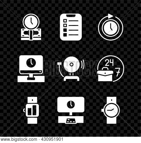 Set Time Is Money, To Do List Or Planning, Clock With Arrow, Smartwatch, Tv Time, Wrist, Monitor And