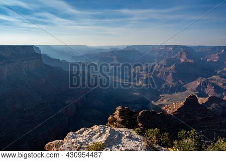 An Overlooking Landscape View Of Grand Canyon National Park, Arizona