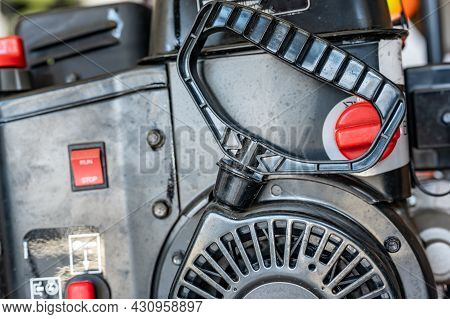 Pull Cord To Start A Portable Engine On A Snow Blower Or Lawn Mower