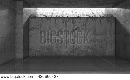 reinforced concrete structure, interior with none. 3d render
