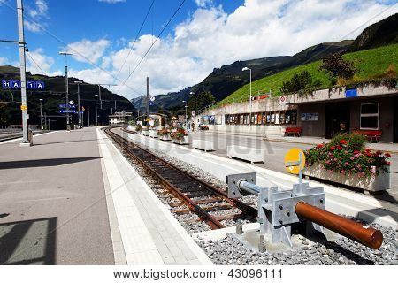 Jungfrau Bahn - Grindelwald Railwaystation, Berner Oberland, Switzerland