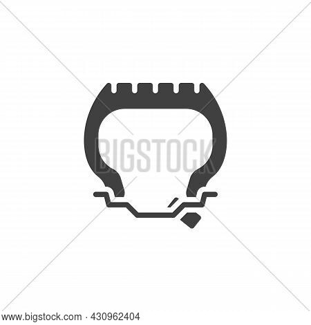 Wheel Repair Tool Vector Icon. Filled Flat Sign For Mobile Concept And Web Design. Tyre Repair Glyph