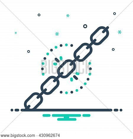 Mix Icon For Chain Weaklink Disconnect Feeble Defect Unsafe Break Hyperlink Protection