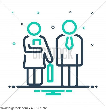 Mix Icon For Secretary Assistant Executive-assistant Assistance Help Employee