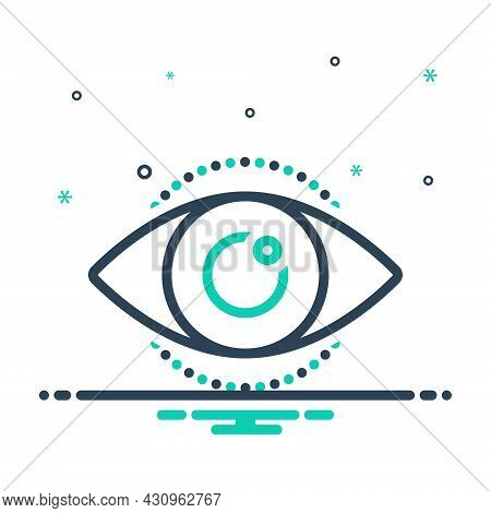 Mix Icon For See View Look Perceive Sight Optical Eyesight Lens
