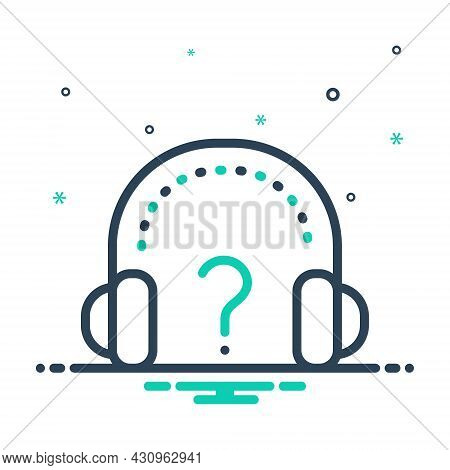 Mix Icon For Why Question Mark Ask Help About-us Query Headphone