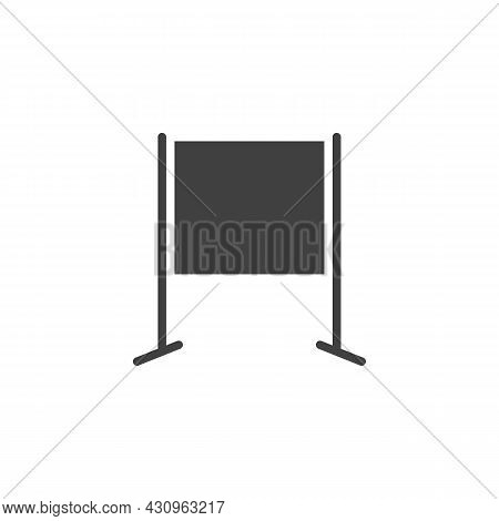 Blank Whiteboard Vector Icon. Filled Flat Sign For Mobile Concept And Web Design. Presentation Board