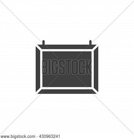 Whiteboard Vector Icon. Filled Flat Sign For Mobile Concept And Web Design. Blank White Board Glyph