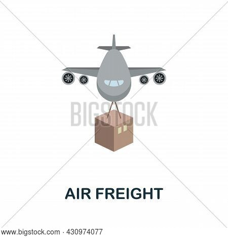 Air Freight Flat Icon. Simple Sign From Logistics Collection. Creative Air Freight Icon Illustration