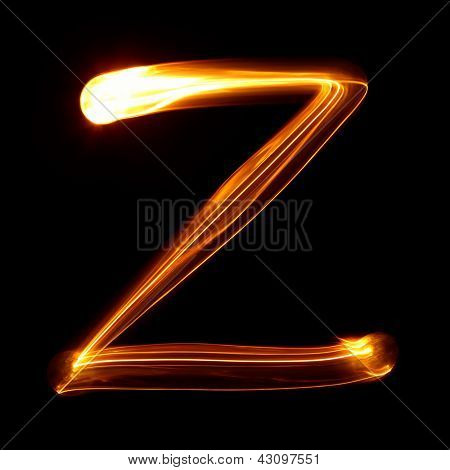 Z - Pictured by light letters