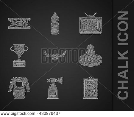 Set Ice Hockey Sticks And Puck, Air Horn, Planning Strategy, Mallet For Playing Air, Hockey Jersey,