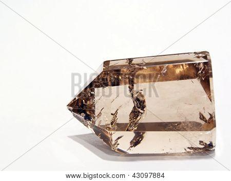 Rauchquarz Kristall bei Kunstlicht