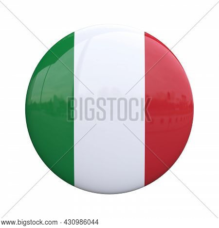 Italy National Flag Badge, Nationality Pin 3d Rendering