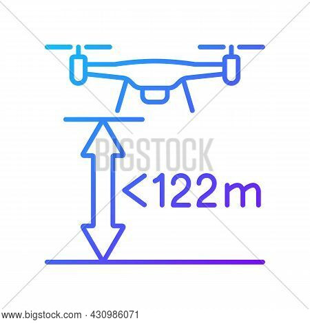 Max Flight Height Gradient Linear Vector Manual Label Icon. Altitude Limit For Drone. Thin Line Colo