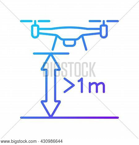 Minimum Flight Height Gradient Linear Vector Manual Label Icon. Prevent Collisions. Thin Line Color