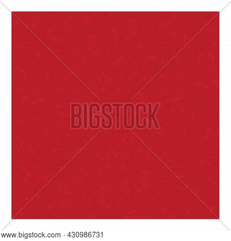 Red Background With Texture. Vector Illustration With The Effect Of Old Worn Paint. For The Screen S