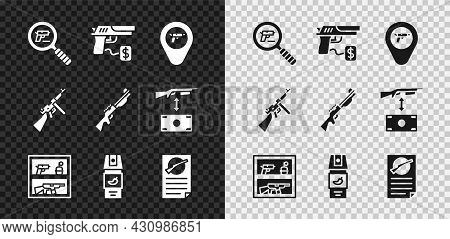 Set Pistol Or Gun Search, Buying Pistol, Location With Weapon, Hunting Shop, Pepper Spray, Firearms