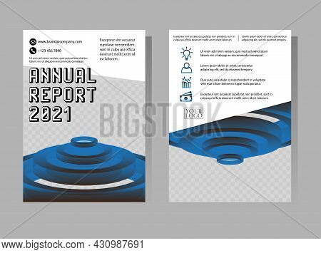 Annual Report Templates. Geometry Brochure, A4 Size Flyer, Book Cover Template. Abstract Vector Desi