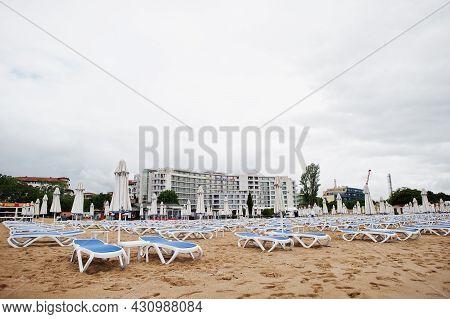Sunny Beach, Bulgaria - June 17, 2021: Sentido Neptun Beach Hotel. Resort Sunny Beach Bulgaria View