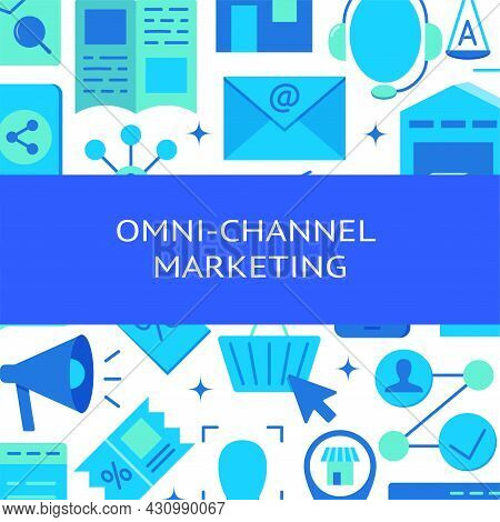 Omni-channel Marketing Banner In Flat Style With Text
