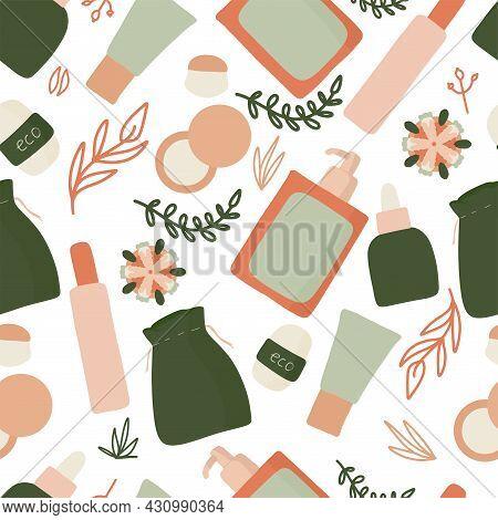 Womens Hygiene Seamless Pattern, Eco-friendly Reusable Menstrual Cup, Zero Waste Periods, Menstruati