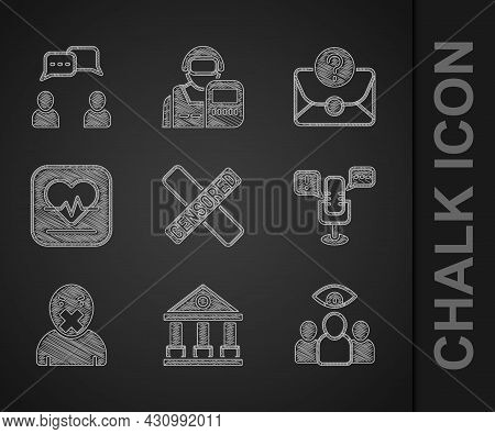 Set Censored Stamp, Courthouse Building, Spy, Agent, Freedom Of Speech, And Freedom, Heart Rate, Env