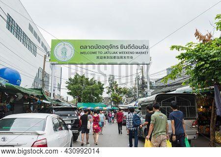 Bangkok,thailand - November 2,2019 : People Can Seen Shopping And Exploring Around Chatuchak Weekend