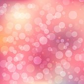 Abstract bokeh background on pink background. This is file of EPS10 format. poster
