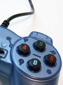 blue video game controller poster