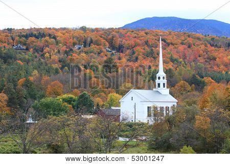 Vermont church steeple