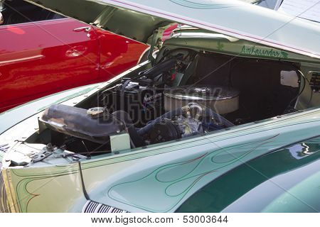 1941 Nash Ambassador Aqua Blue Car Engine