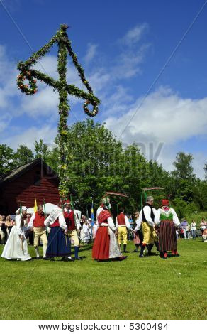 Midsummer day in Sweden