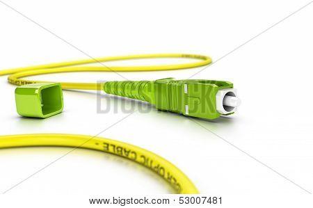 Fiber Optic Patch Cord Over White