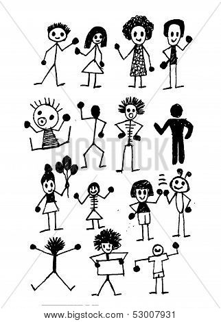 people activity Vector illustration