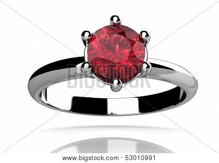 Ruby Ring (high Resolution 3D Image)