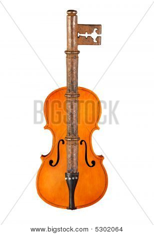 Violin And Rusty Key